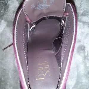Franco Sarto Shoes - 5.5 Franco Sarto Burgundy Suede Booties
